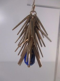 Banana Republic Banana Republic Gold Spike Stick Blue Bead Earring