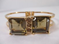 Banana Republic Banana Republic Snake Bronze Square Crystal Cuff Bracelet