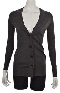 Banana Republic Womens Charcoal Cardigan Speckled Sweater