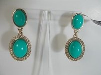 Banana Republic Lot Of Banana Republic Sea Turq Cabochon Crystal Earrings 39.50