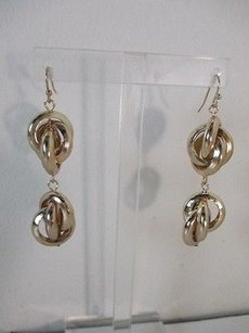 Banana Republic Lot Of Pieces Banana Republic Gold Double Knotted Dangle Earrings Ea