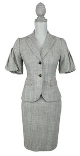 Banana Republic NEW with tags GORGEOUS, UNIQUE gray classy skirt suit set size XS petite