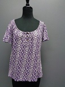 Banana Republic Top Purple And White