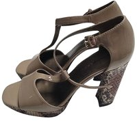 Bandolino & Wedges Taupe Platforms
