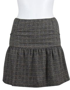 Barbara Bui Womens Wool Mini Skirt Beige Blue Black