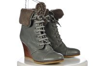 Barbara Bui Womens Ankle Boot Gray Boots