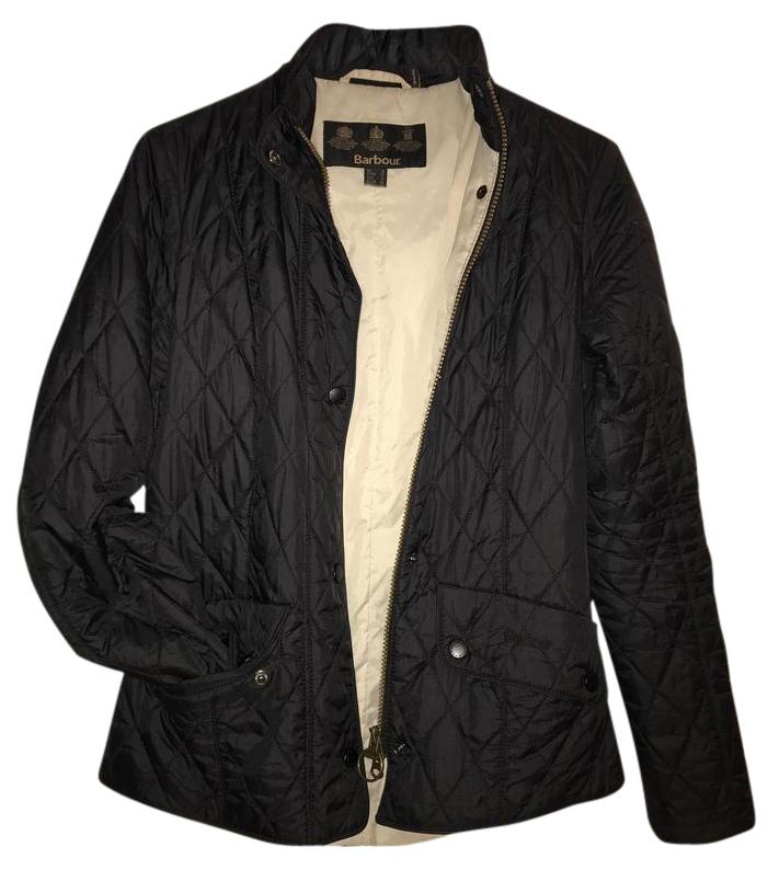 Barbour Flyweight Cavalry Quilted Black/Stone Jacket