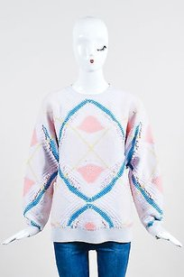 Barrie Pace Pink Blue Coral Sweater