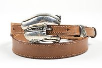 Barry Kieselstein-Cord Vintage Barry Kieselstein Cord Black Brown White Leather Lizard Changeable Belt