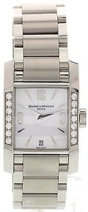 Baume & Mercier Ladies Baume Mercier Diamant Stainless Steel Diamond Watch 65516