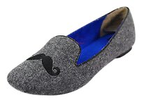 BC Footwear Womens Grey Man Made gray Flats