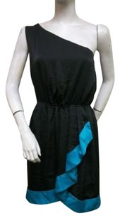 BCBGeneration One Black Turquoise Trimmed Dress