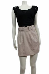 BCBGeneration Bcbg Belted Mini Skirt Taupe