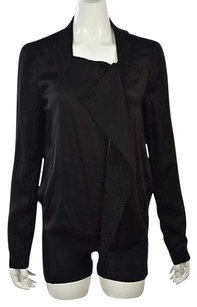 BCBGMAXAZRIA Womens Basic Long Sleeve Casual Black Jacket