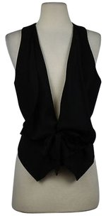 BCBGMAXAZRIA Bcbg Maxazria Womens Black Vest Career Sleeveless Blazer