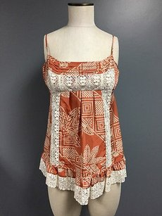 BCBGMAXAZRIA Ivory Top Orange