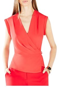 BCBGMAXAZRIA Date Night Office Wrap Draped Elegant Top