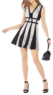 BCBGMAXAZRIA short dress SILVER COMBO on Tradesy