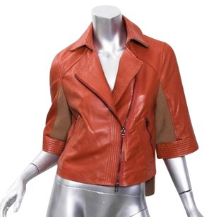BCBGMAXAZRIA Bcbg Max Azria Runway Lamb Leather Moto Biker Coat Motorcycle Jacket