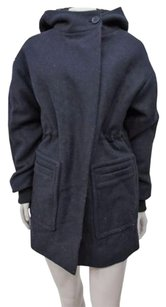 BCBGMAXAZRIA Ryder Hooded Winter Pea Wool Blend Pea Coat