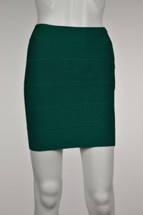BCBGMAXAZRIA Womens Ultra Striped Pencil Above Knee Skirt Green