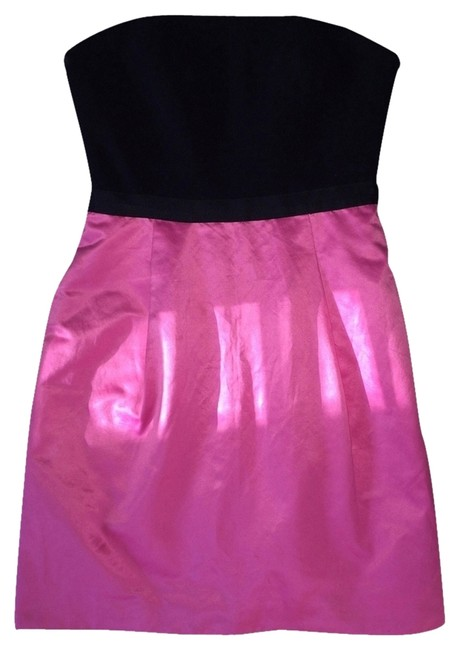 Preload https://item2.tradesy.com/images/bcbgmaxazria-pink-black-color-strapless-above-knee-cocktail-dress-size-2-xs-1741466-0-0.jpg?width=400&height=650