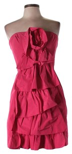 BCBGMAXAZRIA Ruffle Mini Dress