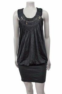 BCBGMAXAZRIA short dress Black Bcbg Maxazria Pleated on Tradesy
