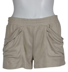 BCBGMAXAZRIA Womens Casual Stretchy Shorts Beige