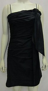BCBGMAXAZRIA Ruched Spaghetti Straps Bow Accent 70700kw Dress