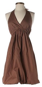 BCBGMAXAZRIA short dress Brown Sweetheart Halter on Tradesy