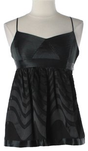 BCBGMAXAZRIA Top Black Silk
