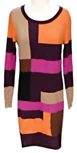 Maxi Dress by BCBGMAXAZRIA Wool Color-blocking Shift