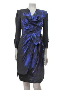 BCBGMAXAZRIA Runway Silk Draped Cowl Neck 0 Dress