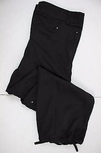 bebe Womens Solid Capri/Cropped Pants Black