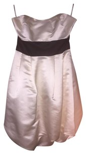 bebe Ivory Satin Cocktail Formal Dress