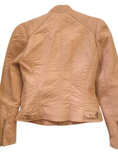 bebe Nudecolor Faux Leather Motorcycle Jacket