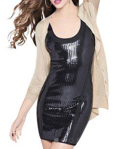 bebe Sequin Bandage S Dress