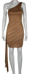 bebe Addiction Women Metallic One Above Knee Sheath Dress