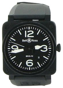Bell & Ross Bell Ross Aviation Br0392 Black Ceramic Black Dial Blk Rubber Watch
