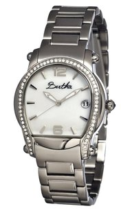 Bertha Fiona Silver-tone Steel White Mother of Pearl Dial Ladies Watch BR2901