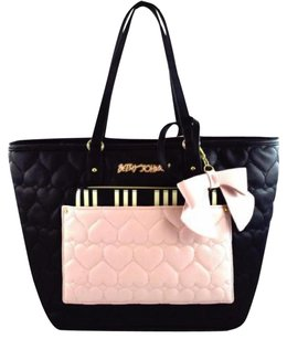 Betsey Johnson Pink Tote in Black