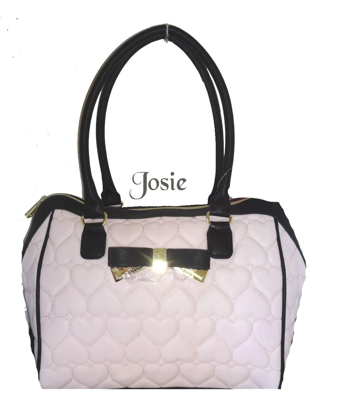 Betsey Johnson Be My Sweetheart Quilted Heart Satchel