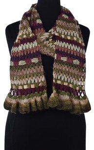 Betsey Johnson Betsey Johnson Womens Brown Scarf One Metallic Textured Woven Casual