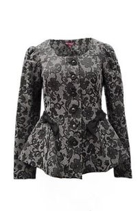 Betsey Johnson Betsy Grey 3d Lace Gray Jacket