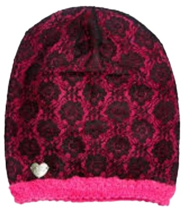 c4f0a33ea3f Betsey johnson pink black lace beanie pink black hat tradesy jpg 847x960 Betsey  johnson black beanie