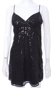 Betsey Johnson Sequined Slip Mini Evening Dress