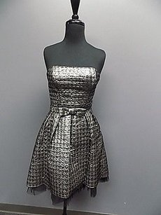 Betsey Johnson Embossed Strapless Party Sma524a Dress