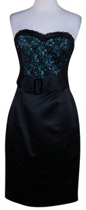 Betsey Johnson Womens Black Strapless Formal Dress