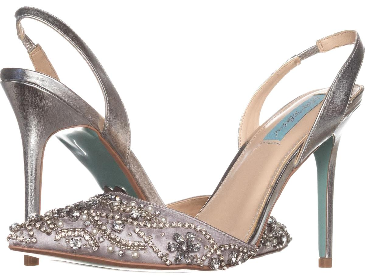 Betsey Johnson Sonia Silver Blue By Sonia Johnson Dress 573 Pumps Size US 9.5 Regular (M, B) 4c8096